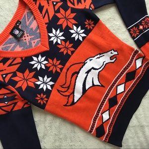 NFL Apparel Denver Broncos Ugly Holiday Sweater